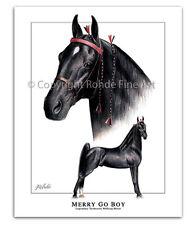 New listing Tennessee Walker walking Horse Art - Merry Go Boy famous Twh stallion portrait
