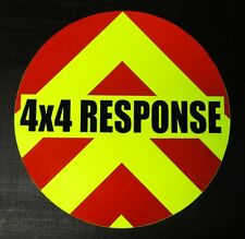 4X4 RESPONSE Wheel Cover Decal Reflective Chevrons 60cm ( For use Members only)