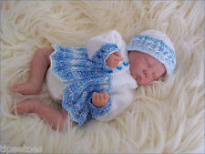 Baby Knitting Pattern TO KNIT Preemie, Reborn Dolls Matinee Cardigan & Hat