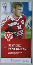 Programm Schweiz 22.3.2015 FC Vaduz - FC St. Gallen