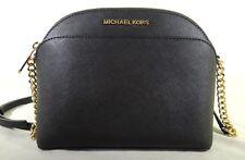 Michael Kors Black Saffiano Leather Emmy Cross Body Bag 35H7GY3C2L