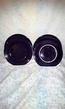 """4 DINNER PLATES plum set lot purple HOMER LAUGHLIN FIESTA WARE 10.5"""" NEW"""