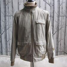 Kickers Retro Jacket Coat Harrington Stone Beige Colour Men's Size L Large