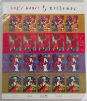 # 3939 - 3942 Lets Dance Salsa Mambo Bailemos 37c MNH Sheet of 20 USPS Stamps