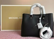 BNWT Michael Kors Savannah Large Nero Saffiano Leather Satchel Handbag