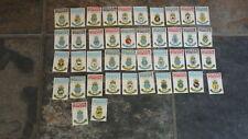 SET OF 42 1970s AUSTRALIAN FEDERAL MATCHBOX LABELS, NAVY SHIPS INSIGNIA