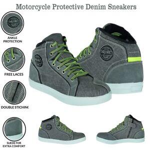 Motorcycle Denim Boots Motorbike Shoes Waterproof Sneaker Suede Protective Shoes