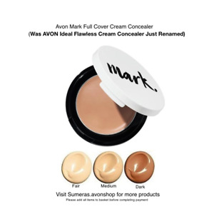 AVON Ideal Flawless/ Mark Full Cover Cream Concealer Available in Fair~Med~Dark