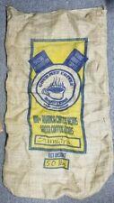1 VINTAGE GOURMET COFFEE ROASTERS BURLAP SACK BAG WALLED LAKE MI CRAFTING