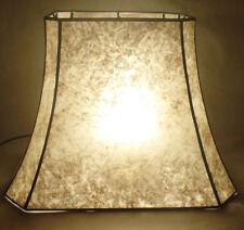 Parchment Color Cut Corner Copper Foil Frame Rectangle Mica Lamp Shade #710N