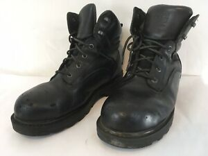 Timberland Mens 10.5W Black Waterproof Insulated Lace Up Steel Toe Work Boots