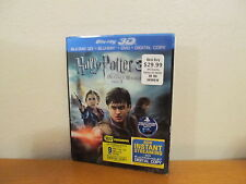 Harry Potter and the Deathly Hallows: Part II 3D Blu-ray/DVD 4 Disc + slipcover
