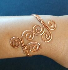 Copper Wire Wrap Bracelet Artisan Copper Bracelet Copper Jewelry