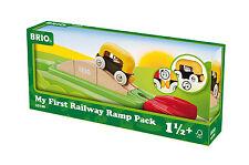 ferrovia in legno Brio Mio primo Brioferrovia Rampenset 33728 7 Pezzi