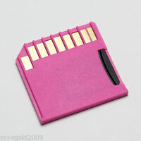 For MID Laptop Macbook Short SD Card Adapter, Support MicroSDXC, Pink