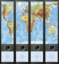 Ordnerrücken Weltkarte Karte Landkarte Ordner Ordneraufkleber Aufkleber Deko 062