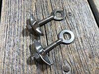 NOS ANTIQUE BIKE BICYCLE AXLE CHAIN ADJUSTERS TENSIONERS NICKEL PLATED VINTAGE