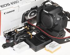 Canon EOS 650D / Rebel T4i  / Kiss X6i Camera +grip, box, 2batt.  | very good c.