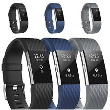 3er Armband Für Fitbit Charge 2 Silikon Sport Ersatzarmband Fitness Tracker DE