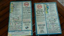 1969-lot 2 CARTES DE NAVIGATION CÔTIERE - LA TRINITE LE CROISIC LORIENT-545/546