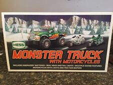 HESS MONSTER TRUCK WITH MOTORCYCLES 2007 free shipping