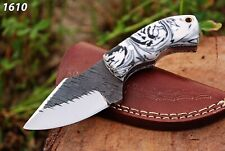 Custom hand Forged Railroad Spike Carbon Steel Fixed Blade Knife Q-