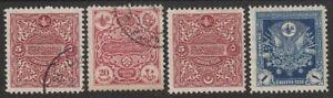 300) TURKEY - TURKIJE - PORTO - CHIFFRES TAXE 1914  USED / UNUSED  PERFECT