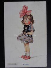 Helen Jacobs KIDDIES: CHUMS Little Girl With Kitten c1920 By J.Henderson No.3254