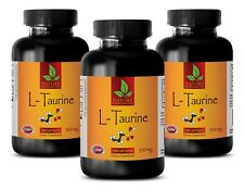Muscle Builder Capsules - L-TAURINE 500mg - Improves Body Fitness 3B