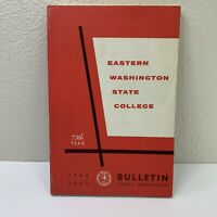 Vintage Eastern Washington State College Course Catalog Book 1964/65 Cheney WA