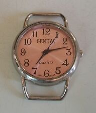 SILVER  FINISH  WATCH FACE FOR BEADING,RIBBON OR OTHER USE