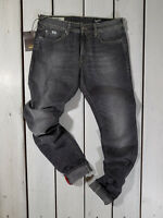 New Gas Collection Men's Jeans W34 Superman Regular Straight Gray Stonewashed