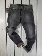 NEW GAS COLLECTION MEN'S JEANS W34 SUPERMAN REGULAR STRAIGHT GREY STONEWASHED