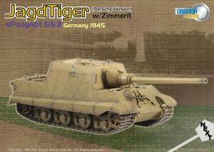 Dragon Armor 60112 Jagdtiger Porsche Production w/ Zimmerit, s.Pz.Jg.Abt.653, Ge