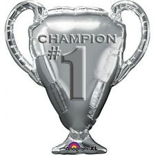 Party Supplies Decoration Silver Champion #1 Shaped Foil Balloon