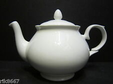 6 Cup Teapot In Amber Shape White English Fine Bone China By Milton China