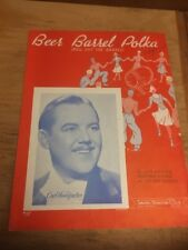 Vtg Sheet Music: Beer Barrel Polka/ Roll out the Barrell 1934