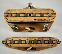 Wiggins Brand, hand wound Tele pickup set, Alnico, Wood, MADE TO ORDER