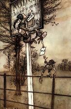Arthur RACKHAM Peter Pan in Kensington Garden Fairytale Goblin stampa montata