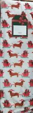 "��🎄Cute Dachshund Pulling Santas Sleigh Plush Throw Blanket 50""x70"""