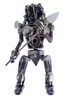 """Alien Movie Predator Figure 7"""" Scrap Welded Metal Made of Screw,Bolt,Nut,Metal"""