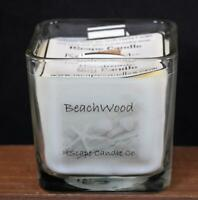 IScape Scented *Beachwood* 11 Oz. Square Jar Wood Wick Soy Candle