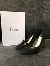 Christian Dior Black Pointed Court Shoes Python Uk 6 39