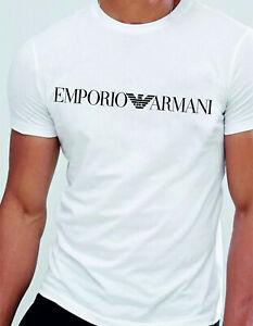 Emporio Armani Weiß Herren T-shirt Baumwolle Größe: M, L, XL NEU