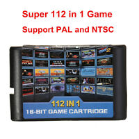 Sega Megadrive 112 in 1 Game Cartridge Card For Megadrive & Genesis PAL NTSC UK