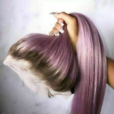 Luxury Lace Front Remy Ombre Lilac Purple Full Lace Human Hair Wig Colorful