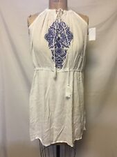8f4813a372f Ella Moss Womens Dreamer White Embroidered Fit   Flare Casual Dress L BHFO  8355
