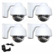 4 x 700TVL Outdoor Dome Security Camera IR LEDs Night 3.5-8mm SONY Effio CCD AQ1