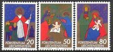 kompl.ausg. Liechtenstein 374-376 Mit Falz 1958 Weihnachten