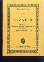 Taschenpartitur ~ Vivaldi : Concerto fatto per la Solennita della Lingua di San